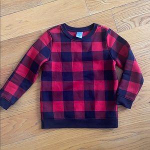 Other - Holiday plaid fleece-lined sweatshirt